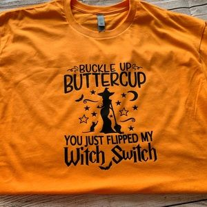Tops - Suck it Up Buttercup Witch Switch Tee